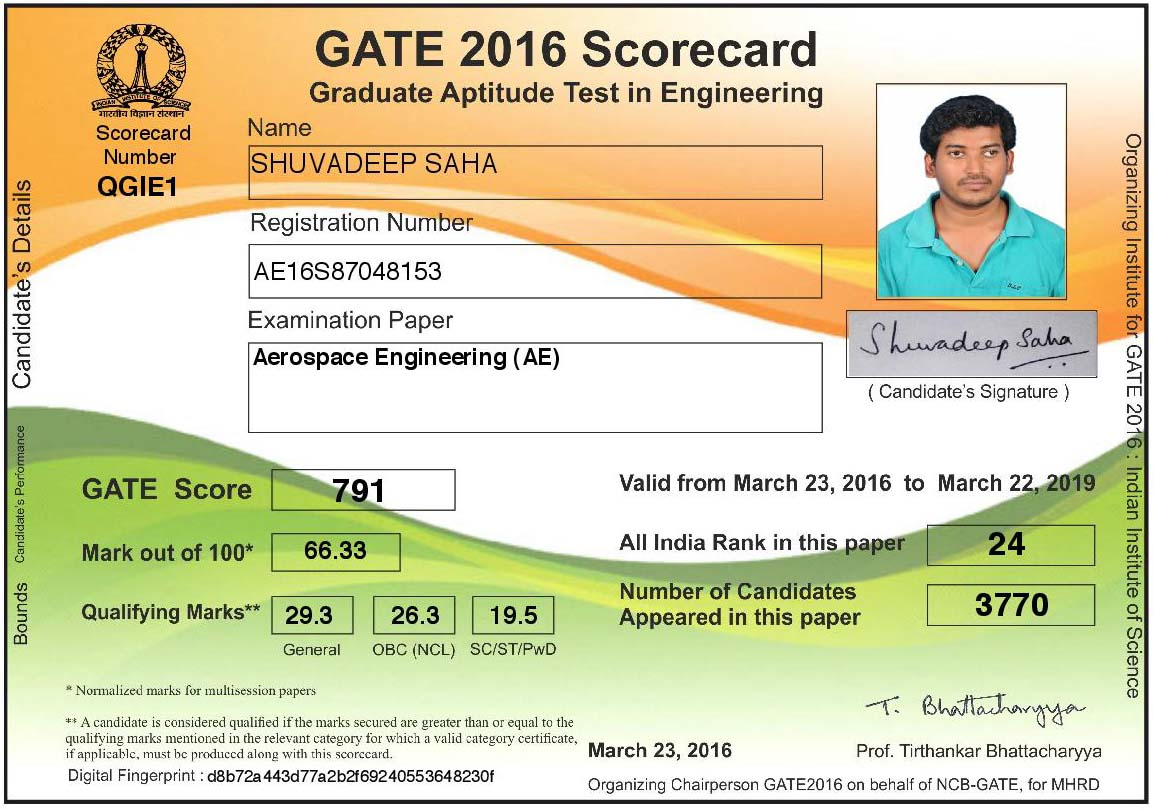 GATE AE 2016 AIR-24